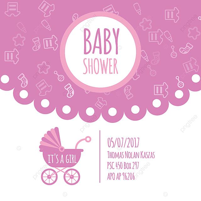 Baby Shower Para Recien Nacido Celebracion Saludo Y Tarjeta