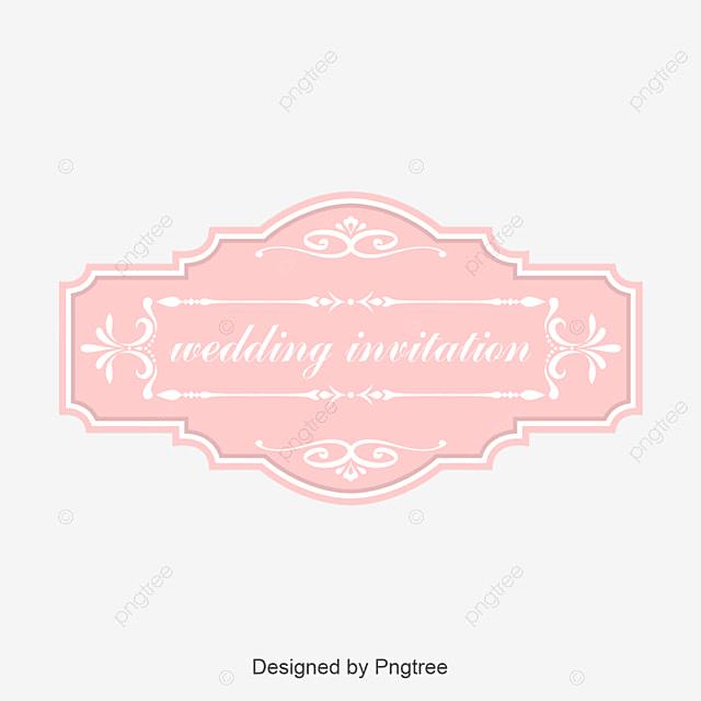 pink wedding label design l vector wedding labels pink labels