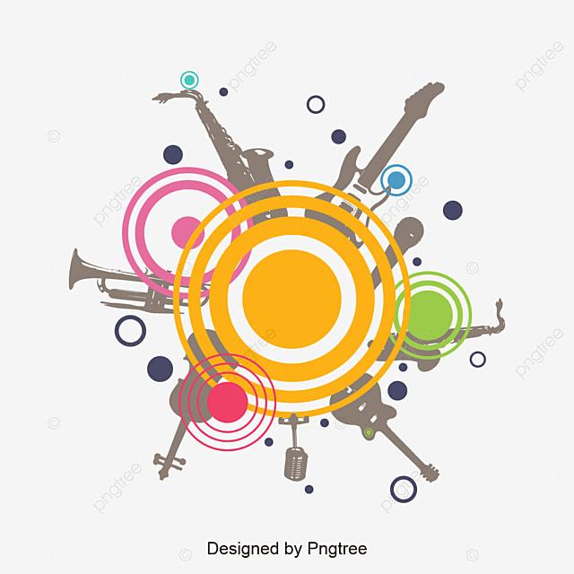 Color Music Background Vector Design Abstract Circular Design