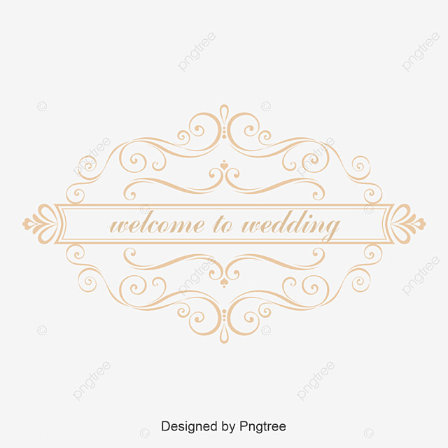 golden pattern wedding label vector wedding label wedding label