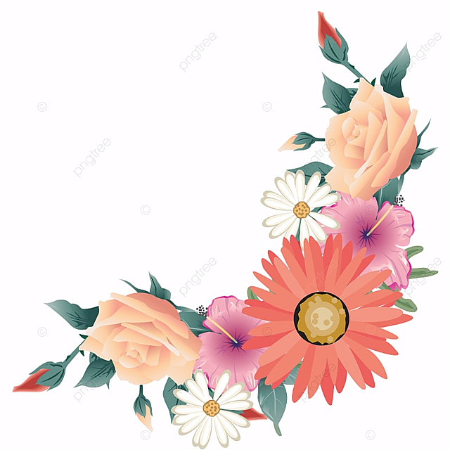 Flower Border Flower Vector Flower Design Flower Boundary Png