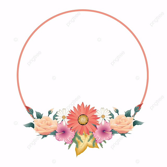 Mix Flower Frame, Wreath, Frames, Flowers PNG and PSD File for Free ...