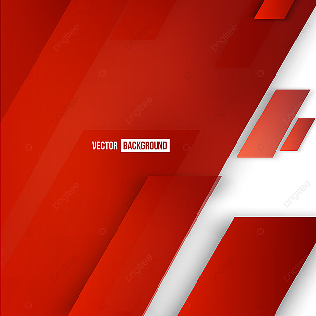Vector Abstract Geometric Shape From Red Lines Background