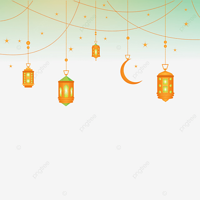 Islamic Background Border Chandelier Lamp Png Ramadan Kareem PNG Image And
