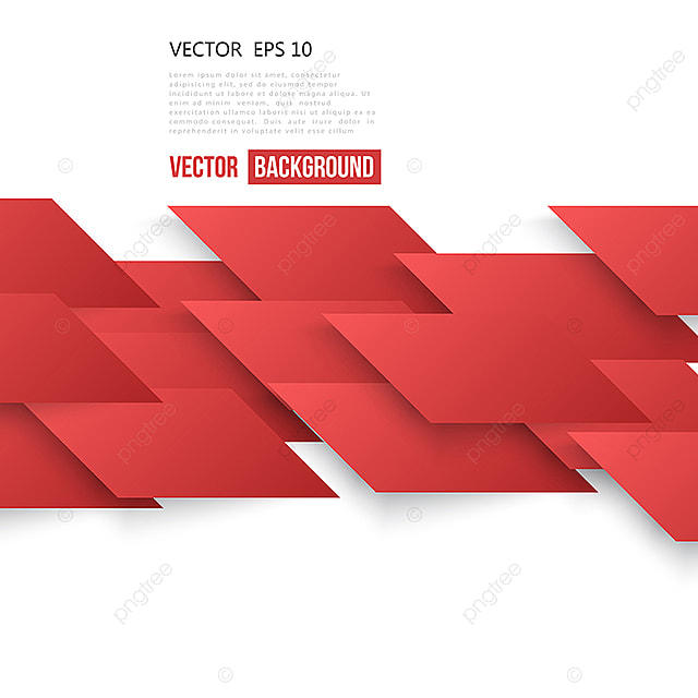 Vector Abstract Geometric Shape From Red Lines Red Tech