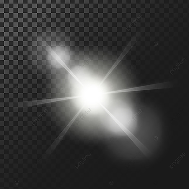 Vector Illustration Of A White Glowing Light Effect