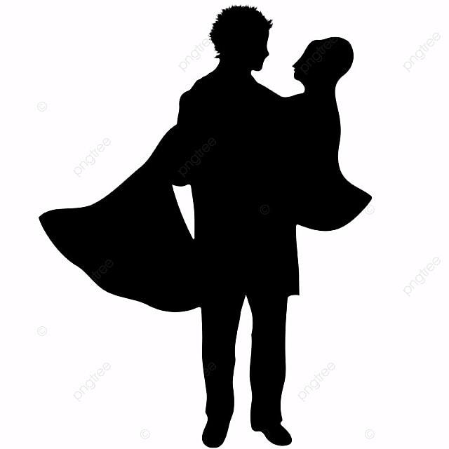 Mariage Couple Silhouette Clipart De Mariage Noir Et Blanc Mariage Couple Fichier Png Et Psd Pour Le Téléchargement Libre