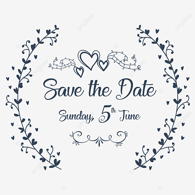 Save The Date Wedding Floral Ornament Wedding Floral: Save The Date Wedding Invitation Ornaments, Save The Date