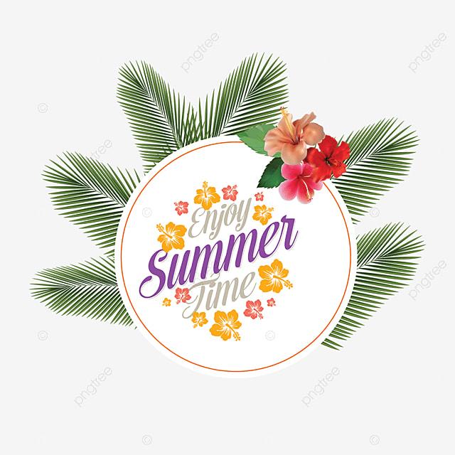 Summer Badge With Leave Decoration, Summer Badge, Labels