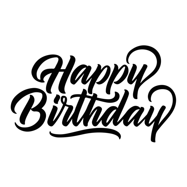 Happy Birthday, Happy, Birthday, Calligraphy PNG And