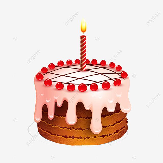 Beau Gâteau Avec Des Bougies Joyeux Anniversaire Gâteau Belle Png Et