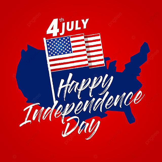 Ngày 4 tháng 7 tháng 7 yêu nước Mỹ kỷ niệm ngày độc lập Ảnh thiệp chúc  mừng. Miễn phí PNG và Vector