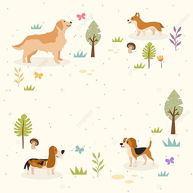 Perro En El Parque Gratis Copyspace Tarjeta, Background, Telón De ...