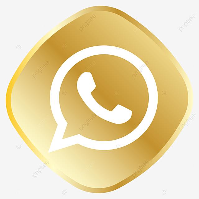 Goldenes Whatsapp Symbol Whatsapp Logo Whatsapp Clipart Koniglich Golden Png Und Vektor Zum Kostenlosen Download