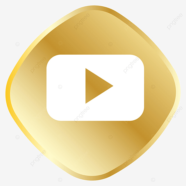 golden youtube ic u00f4ne royal golden ic u00f4ne png et vecteur