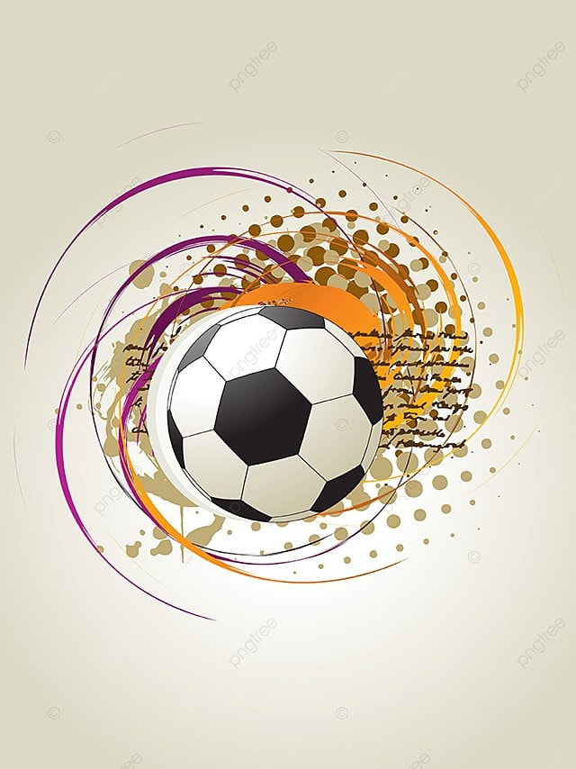 Le Football Vectoriel Abstract Art Contexte Png Et Vecteur Pour