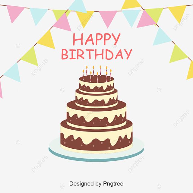 Birthday Cake Vector Background Birthday Happy Birthday Red Png