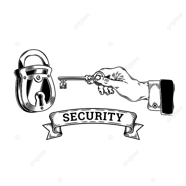 Conceito De Segurança Com Chave Abre Fecha O Cadeado Chave