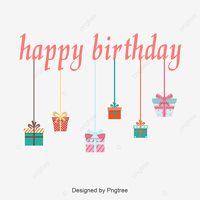 Happy Birthday Gift Label PNG And Vector