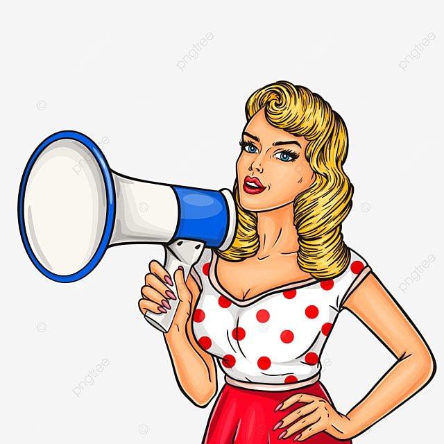 pop art girl with megaphone publicit u00e9 la publicit u00e9 annonce