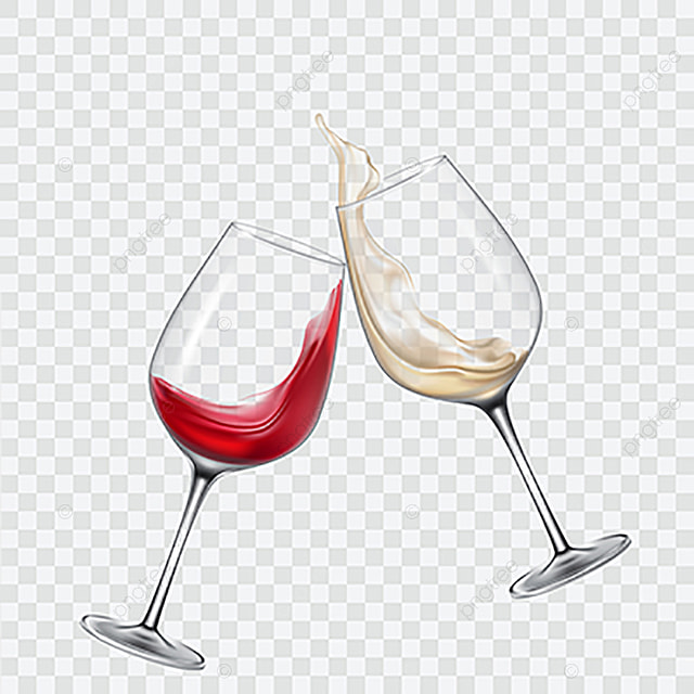 9fa0d3a4ab1 Set Transparent Glasses With White And Red Wine