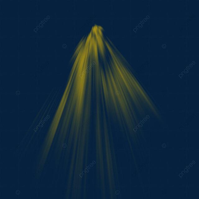 Yellow Sunlight Beam Light Effect, Light Png For Picsart