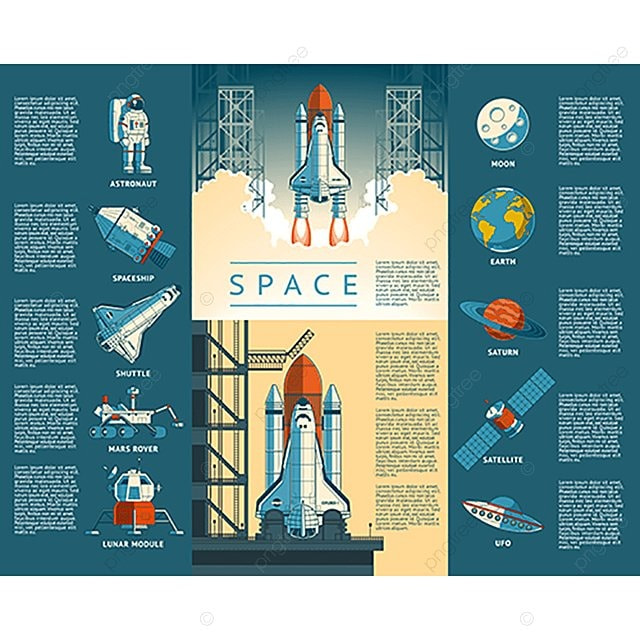 Large Collection Icons Of Space, Rocket, Launch, Space PNG
