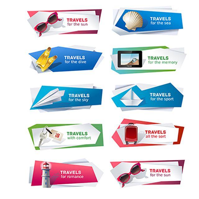 f4d617988 Conjunto de banners en el tema de los viajes Gratis PNG y Vector