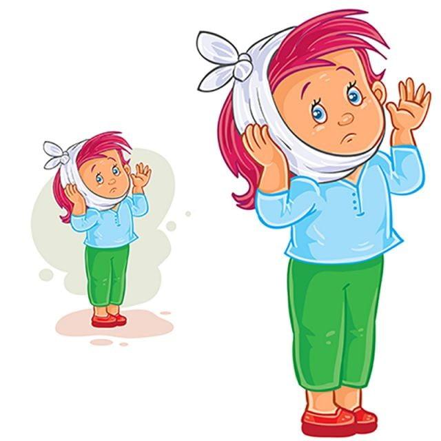 ناقلات فتاة صغيرة مع ألم الأسنان و تدفئة ضغط Young Vector Little Png