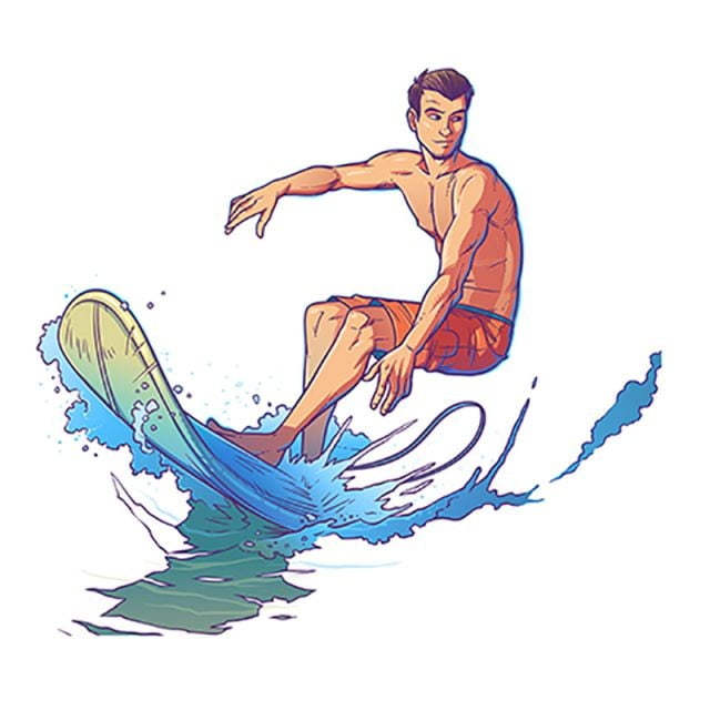 vector illustration of a surfer  surfer  surfing  wave png and vector with transparent