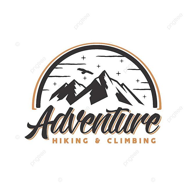 Vintage Mountain Outdoor Adventure Logo Badge Illustration
