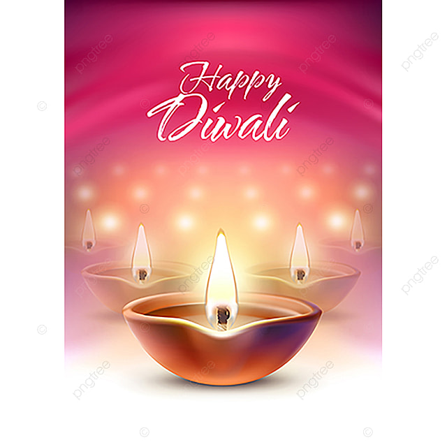 Vector Illustration Banner Greeting Card Template For Diwali T