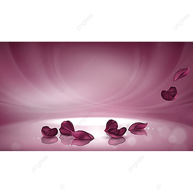 Vector 3d Pink Background With Burgundy Rose Petals