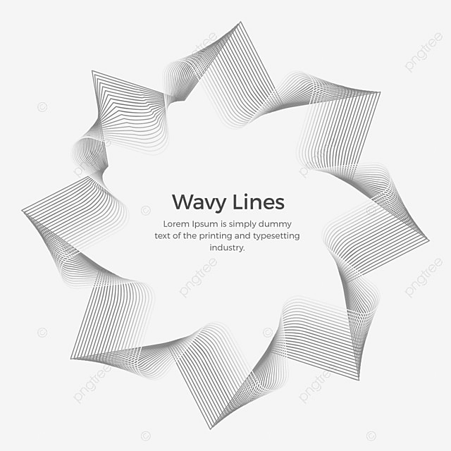 Wavy Lines Abstract Badge With Text, Wavy, Lines, Abstract ...
