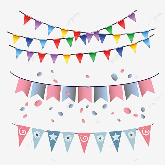 Birthday Flag Multi Color Garland Hanging, Birthday, Flag