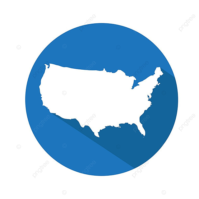 Usa Map Icon America American Art Png And Vector For Free Download