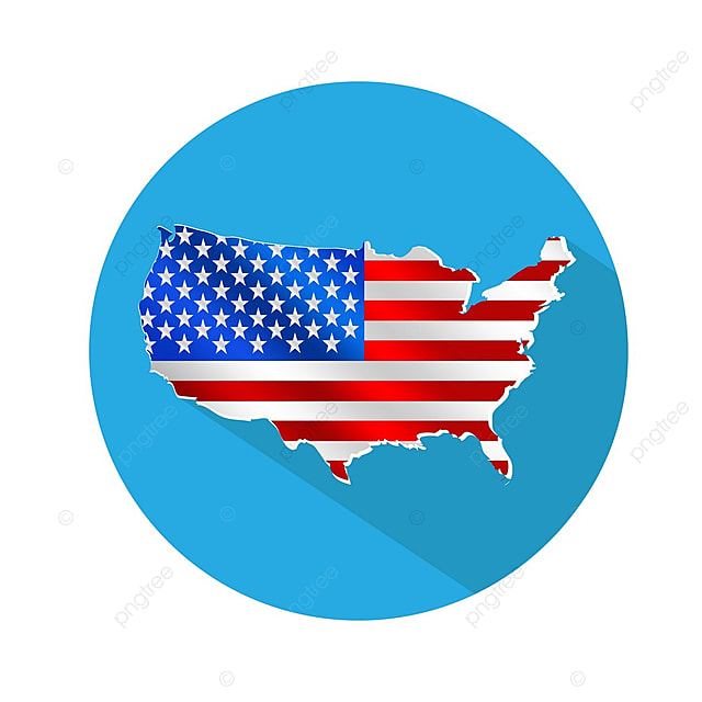 USA Map Icon, America, American, Art PNG and Vector for Free ...