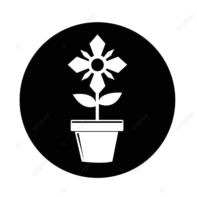 Pot De Fleur Icone Pot Fleurs Icone Png Et Vecteur Pour
