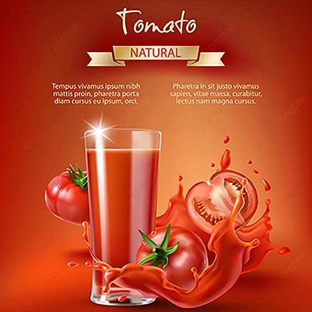 إعلان عصير الطماطم المتجه طماطم الخضروات Png والمتجهات للتحميل مجانا