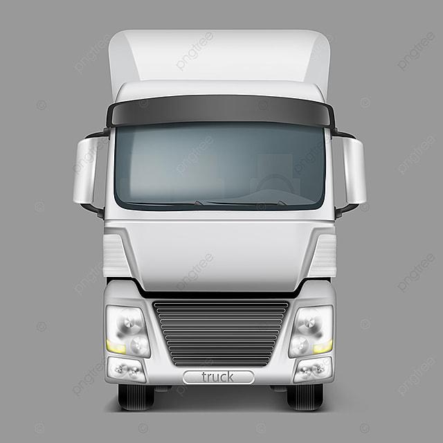 vector 3d r u00e9alistes camion vue de face camion camion