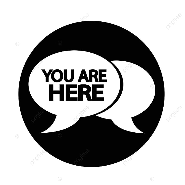 You Are Here Icon Here You Sign Png And Vector For Free Download
