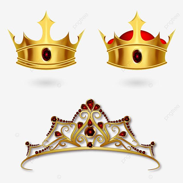 Conjunto De Coronas Y Diadema Corona Vector Reina PNG y Vector para ...