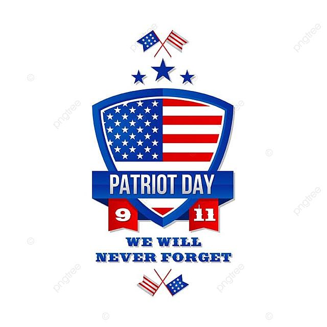 9月11日アメリカ パトリオットアメリカ合衆国バッジのイラスト Patriot