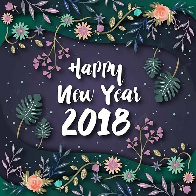 elegant floral theme happy new year 2018 greeting card illustration year new 2018