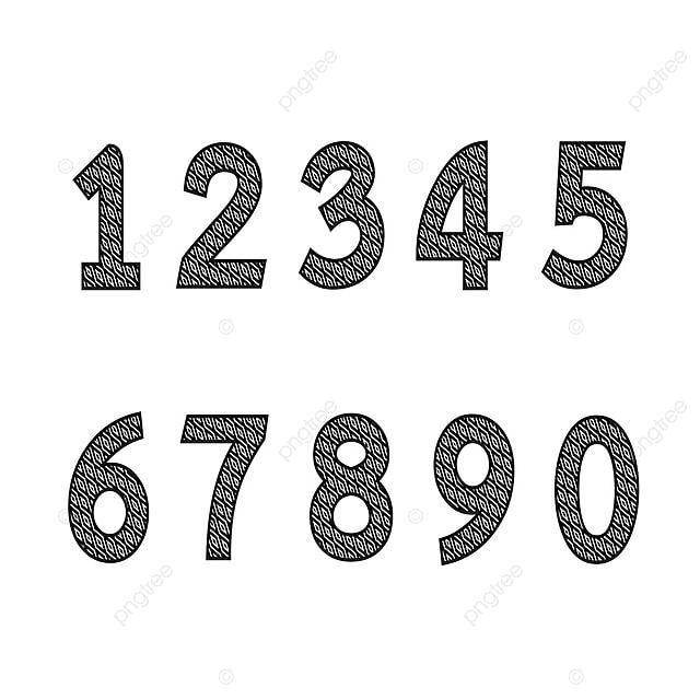 hitam abstrak beberapa ilustrasi nombor font ikon png dan