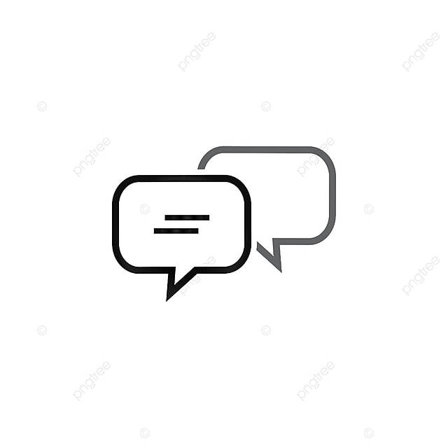 Bubble Chat Outline Icon Template Background Balloon Black PNG And Vector