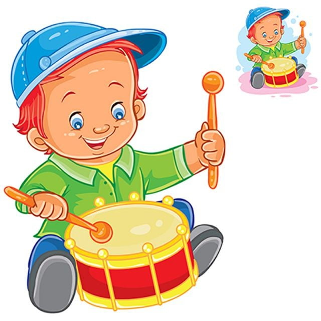 le petit gar u00e7on de battre le tambour vector dessin anim u00e9