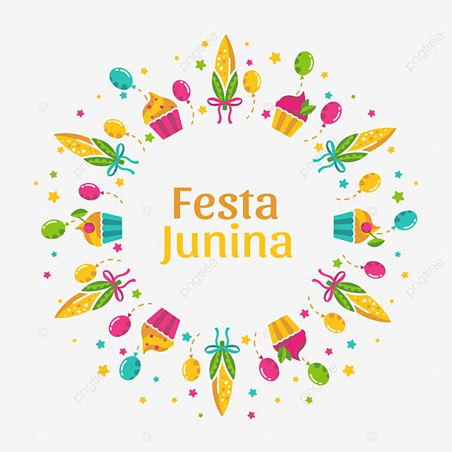 round frame design festivo festa junina junho png e vetor