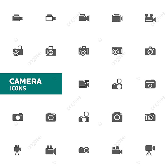 Camera Icons Set Vector Camera Icon Vector Png And Vector For