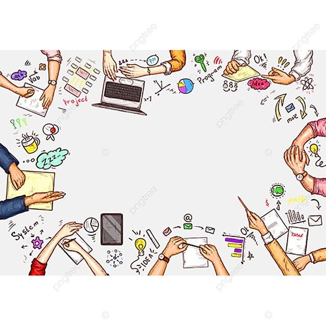 向量波普藝術:一個男人和一個女人坐在東北的插圖, 商務, Pop藝術, 桌子 PNG圖片素材和矢量圖